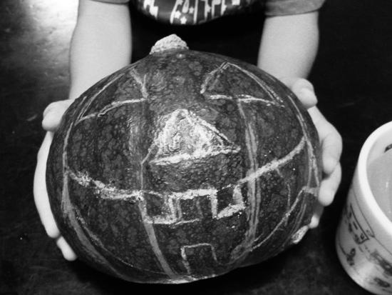 まずはかぼちゃの下書き完成