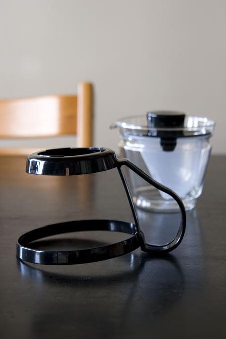 イワキ レンジのポット・茶器の枠を外してみました