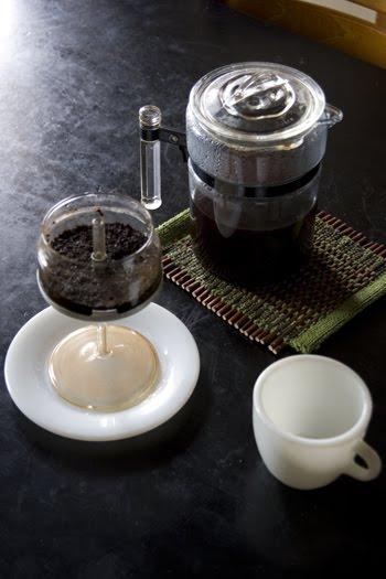 パイレックスパーコレーターでコーヒータイム