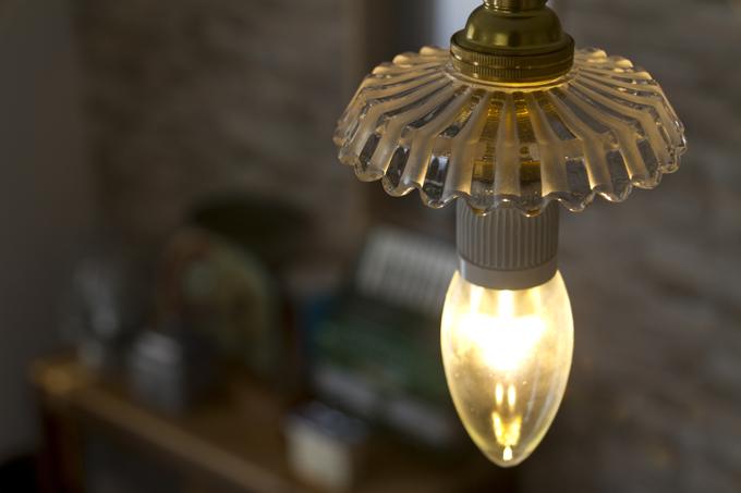 アンティーク バカラ シャンデリア LED電球 口金E-17