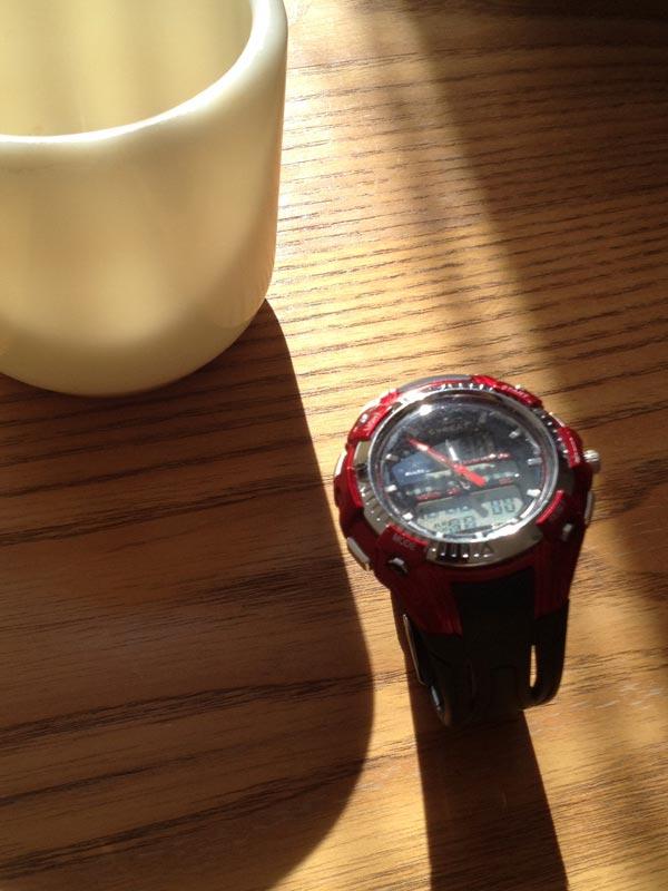 電池交換を終えた腕時計