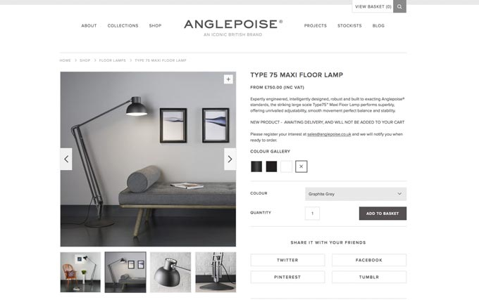Type 75 Maxi Floor Lamp / Anglepoise