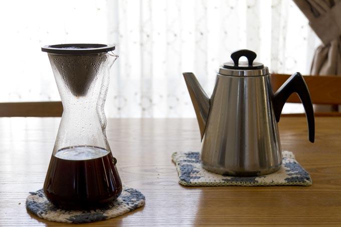 KINTOのフィルターを使ってコーヒー抽出完了
