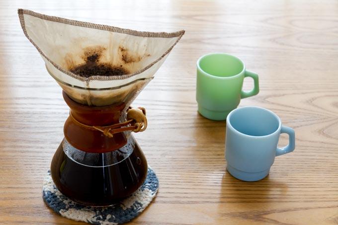 ネルフィルターでコーヒーをいれました