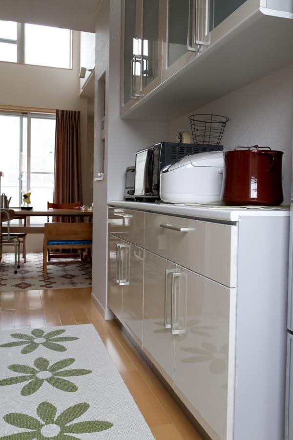 パペリナのキッチンマットとDANSKの鍋