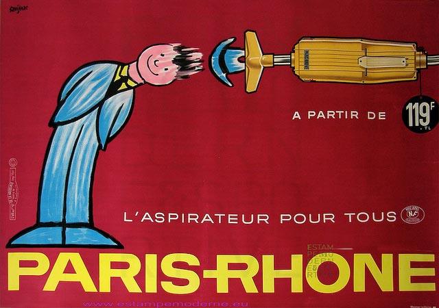 SAVIGNAC ASPIRATEUR PARIS RHONE 137X197 DELAVASSELAIS / Photo GALERIE ESTAMPE MODERNE & SPORTIVE PARIS