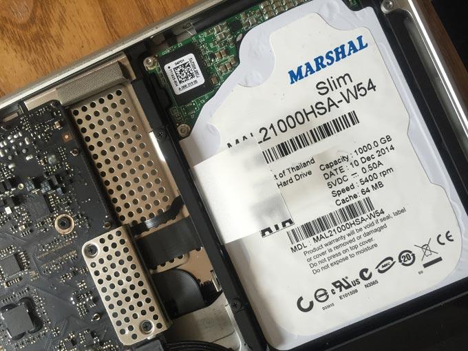 HDDを交換したMacBook Pro