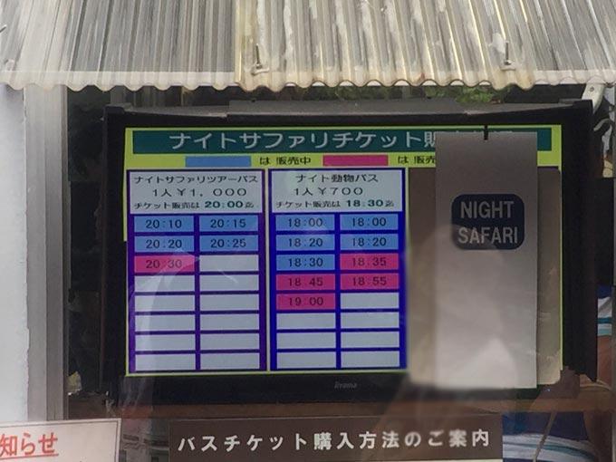 富士サファリパークチケット売り場