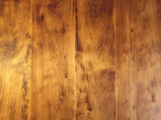 荏油 150mlを塗った天板