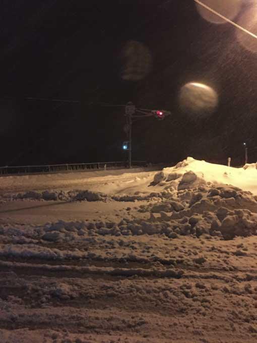 大雪警報の関ヶ原へ