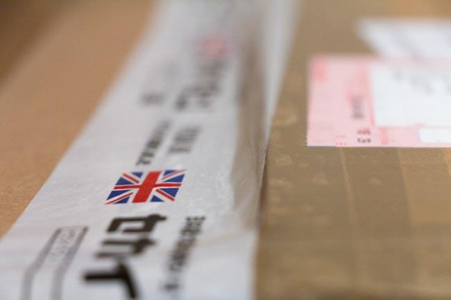 セカイモン イギリスから届いた荷物