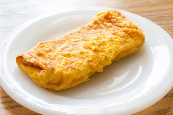 ティファールで焼いた卵焼き