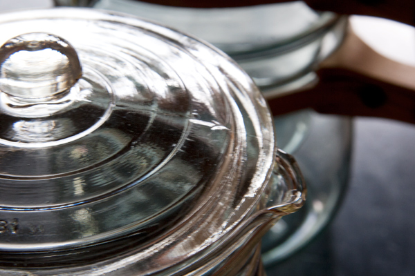 Glasbake Cookware Double Boiler Lid