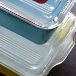 オールドパイレックスの保存容器をインテリアに使う