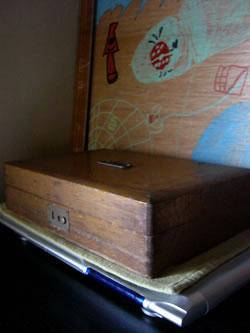 レトロな木箱