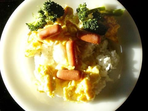 ファイヤーキングRWディナープレートを使った朝食