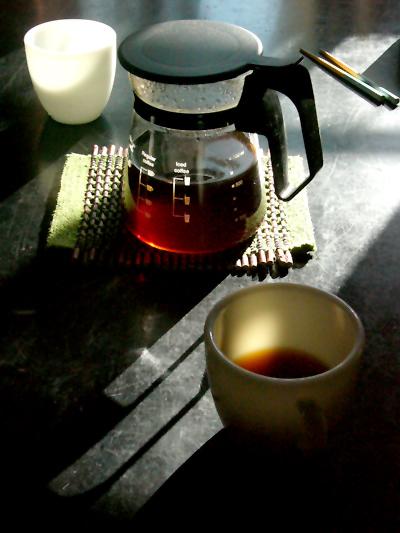 パイレックスNEWコーヒーハウスでいれたてのコーヒーをコーニングマグで飲みます